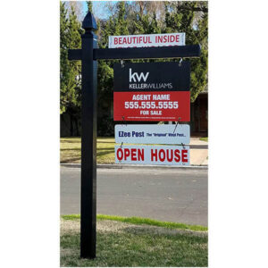 real estate sign post installation canada