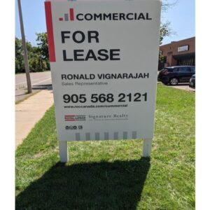Commercial real estate sign post Canada installation
